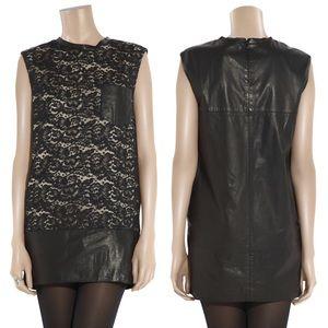 3.1 PHILLIP LIM Lace and leather Mini Shift dress